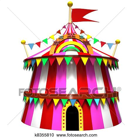 Stock Illustration - Illustration of a circus tent. Fotosearch - Search Clipart Illustration Posters  sc 1 st  Fotosearch & Stock Illustrations of Illustration of a circus tent k8355810 ...