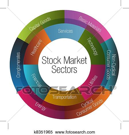 Clipart of Stock Market Sectors Chart k8351965 - Search ...
