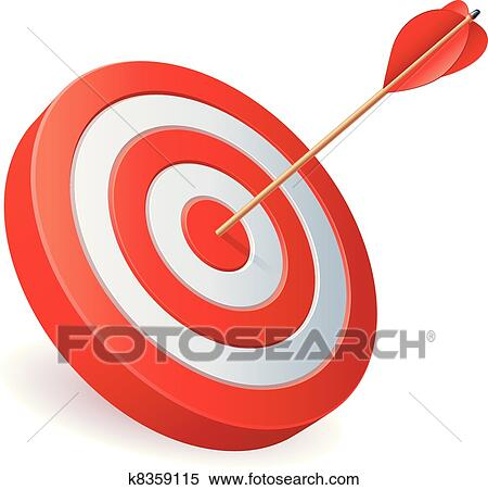 Free Clip Art Arrow And Target