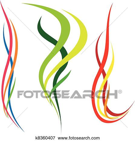 clip art of abstract background with bent lines k8360407 search rh fotosearch com clip art lines and borders clip art line dividers