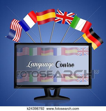 Clip Art of Language corse k24398792 - Search Clipart ...