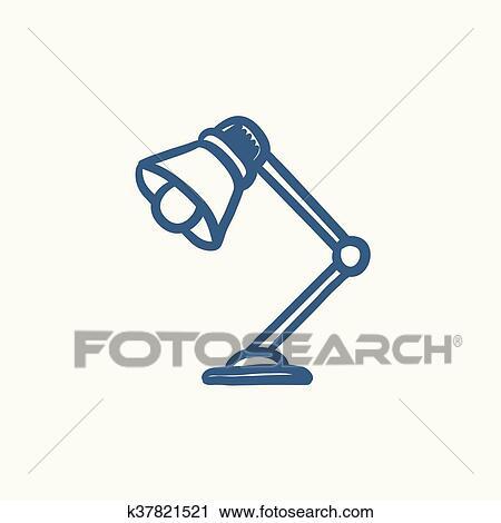 Tischlampe gezeichnet  Clipart - tischlampe, skizze, icon. k37821521 - Suche Clip Art ...