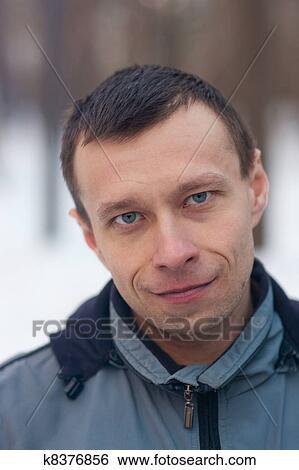图片银行 - 人, 带, 蓝色眼睛图片