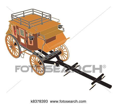 clipart postkutsche ohne pferden k8378393 suche clip