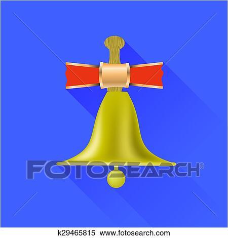 剪贴画 - 校园铃声, 图标. fotosearch - 搜寻边框,底纹背景及影像