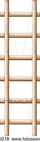 Clip Art Of A Wooden Ladder K17795218