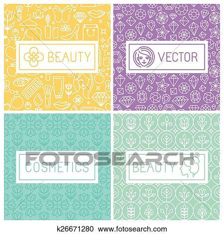 clipart vektor schoenheit etiketten k26671280 suche clip art illustration wandbilder. Black Bedroom Furniture Sets. Home Design Ideas