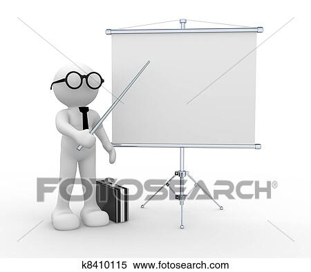 Stock Illustration of Flipchart k8410115 - Search Clipart ...