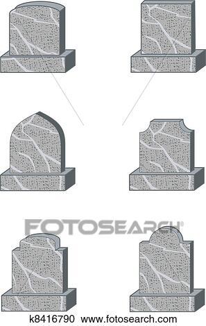 Clipart pierre tombale formes k8416790 recherchez des clip arts des illustrations des - Pierre tombale dessin ...