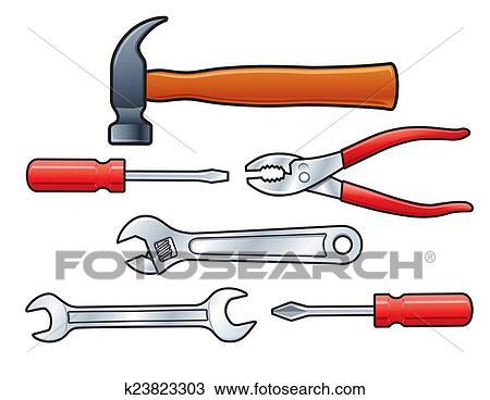Dibujos herramientas manuales pictures to pin on pinterest - Herramientas de mano ...