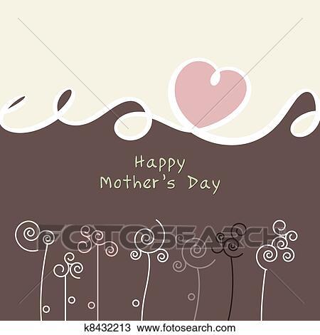 手绘图 - 母亲节, 卡片