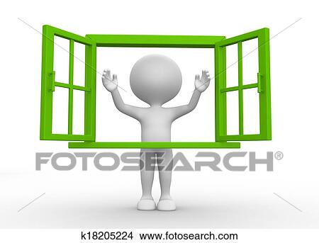 Dessins ouvrir fen tre k18205224 recherche de clip - Fenetre grand format ...
