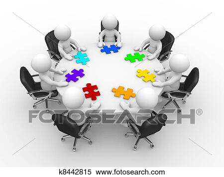 Round table discussion Illustrations and Clip Art 572 round table