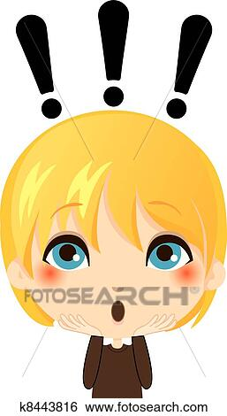 Clip Art of Surprised Kid k8443816 - Search Clipart ...