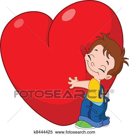 Clipart capretto abbraccio cuore k8444425 cerca for Clipart cuore