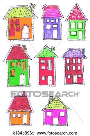 剪贴画 房子