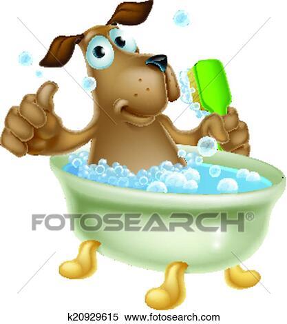 Clipart governare cane bagno cartone animato k20929615 - Bagno purificatore ...