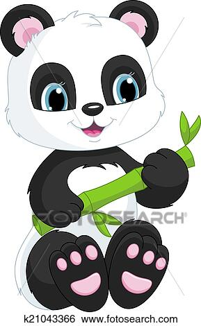 剪贴画 - 漂亮, 熊猫