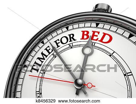 stock illustration zeit f r bett begriff uhr k8456329 suche clipart zeichnungen. Black Bedroom Furniture Sets. Home Design Ideas