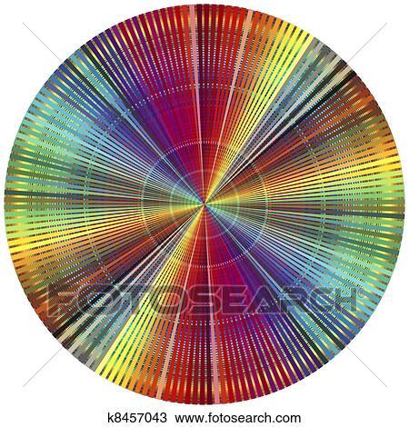Drawing Of Rainbow Color Wheel K8457043