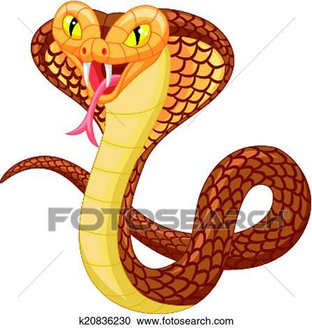 angry cobra drawing