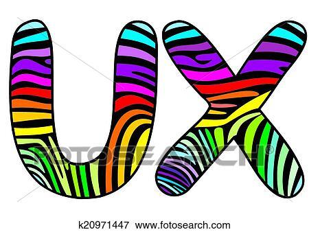 clip art of background skin zebra letter u x k20971447 search rh fotosearch com