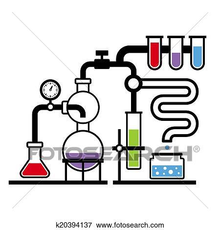 Clip Art - chemie, laboratorium, infographic, satz, 3 ...