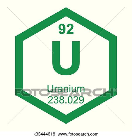 clip art periodic table element uranium fotosearch search clipart illustration posters - Periodic Table Of Elements Uranium