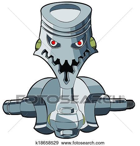 clip art of piston k18658529 search clipart