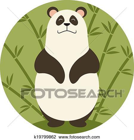 剪贴画 - 微笑, 熊猫