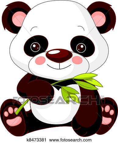 Clipart of Fun zoo. Panda k8473381 - Search Clip Art ...
