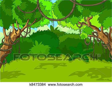 Jungle trees Clipart and Illustration. 9,322 jungle trees clip art ...