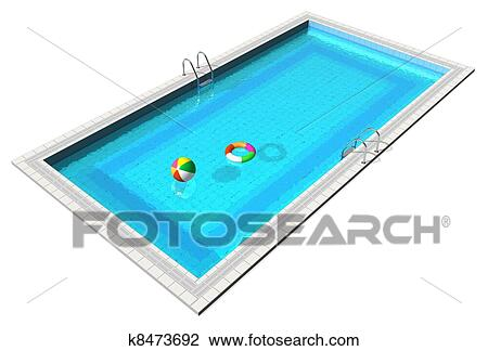 Clip art of blue swimming pool k8473692 search clipart for Swimming pool drawing