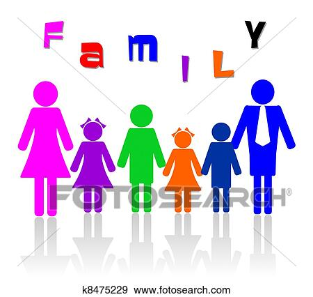 Clip Art of woman, male, family member, family u11421892 - Search ...