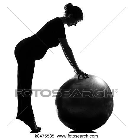 banque d 39 image femme enceinte fitness workut pilates k8475535 recherchez des photos des. Black Bedroom Furniture Sets. Home Design Ideas