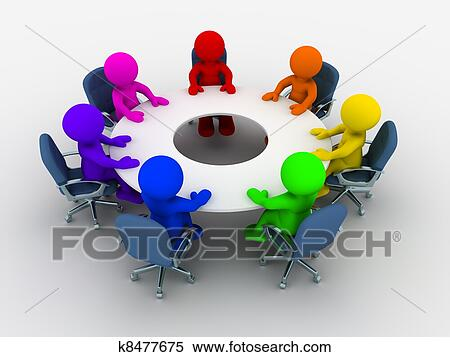 Round table Stock Illustrations 3790 round table clip art images
