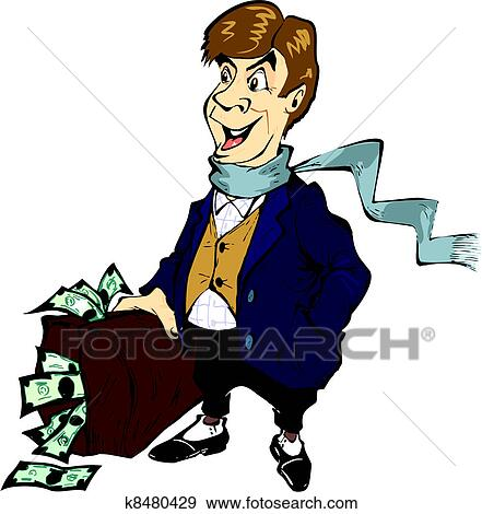 Clip Art of Rich man.jpg k8480429 - Search Clipart, Illustration ...