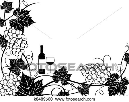 clipart raisins cadre illustration k8489560 recherchez des clip arts des illustrations. Black Bedroom Furniture Sets. Home Design Ideas