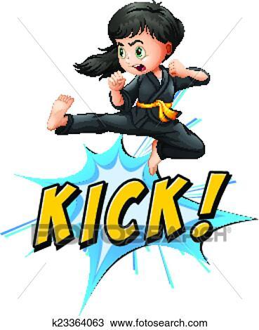 Clipart of Kick logo k23364063 - Search Clip Art ...