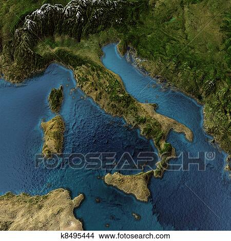 Archivio fotografico italia 3d mappa k8495444 cerca for Foto murali 3d