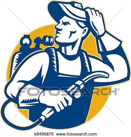 Welding torch Stock Illustrations. 75 welding torch clip art ...
