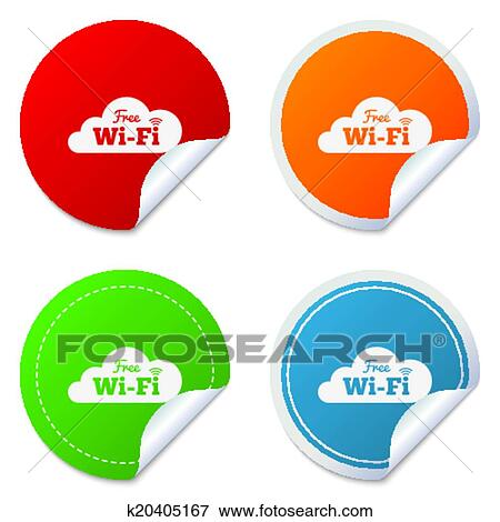 Clip Art of Free wifi sign. Wifi symbol. Wireless Network ...