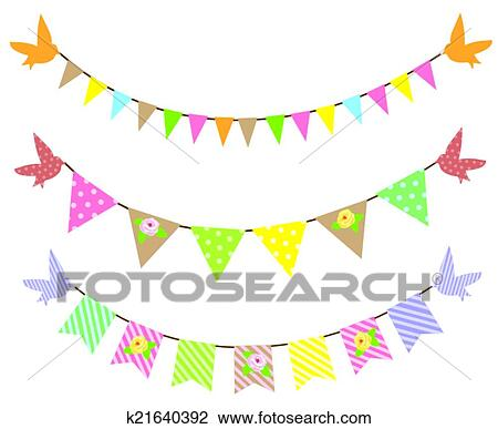 clipart of bunting k21640392 search clip art illustration murals rh fotosearch com bunting clipart black and white bunting clipart border