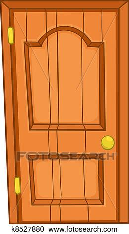 house door clipart. Cartoon Home Door Isolated On White Background. Vector. House Clipart
