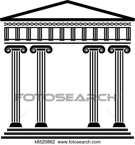 Clipart of vector ancient greek architecture k8520862 Search