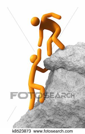 Drawing - Helping hand  Fotosearch - Search Clipart  Illustration