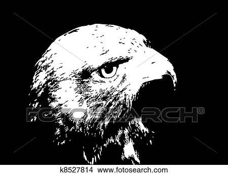 Clipart vecteur illustration de a noir dessin anim - Dessin de faucon ...