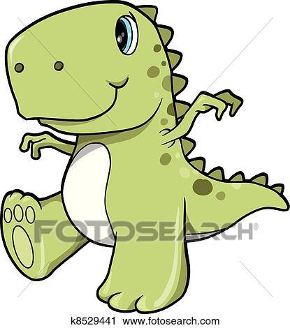 Clip Art T Rex Clip Art clipart of cute green dinosaur t rex vector k8529441 search clip fotosearch art