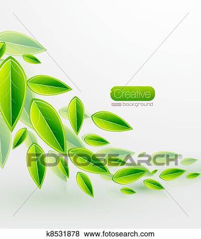 剪贴画 - 绿色, 矢量, 离开图片