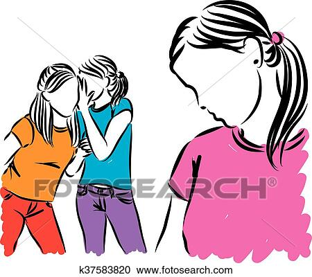 clipart of girls teenagers gossip illustration k37583820 search rh fotosearch com gossip clipart no gossip clipart